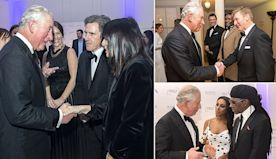 Prince Charles meets Claudia Winkleman at Prince's Trust Gala