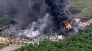 Illinois chemical plant fire threatens nearby river