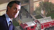"""Gavin Newsom califica de """"horrible y desgarrador"""" el tiroteo en Orange"""
