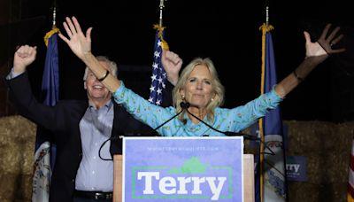Jill Biden campaigns for Terry McAuliffe in Virginia amid tight race