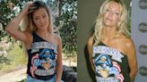 Ava Sambora looks like mom Heather Locklear's twin in borrowed vintage Bon Jovi concert tee
