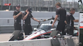 IndyCar drivers get test laps in at World Wide Technology Raceway