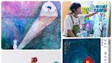 ⽩⽯畫廊 -- 孟耿如個展《來夢裡的空間》「很訝異,突然可以在創作中找到另⼀個我。」