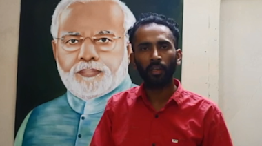 Amritsar artist makes oil painting of PM Narendra Modi