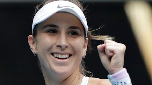 Australian Open: Belinda Bencic beats Jelena Ostapenko to reach third round