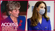 Kate Middleton Wears Royal Blue Suit Nearly Identical To One That Princess Diana Wore In '92