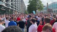 Scores turn out to watch Euro semi-final