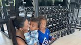 Kim Kardashian Shows Love to Sons Saint, 5½½, and Psalm, 2, at the Gym: My 'Little Visitors'