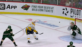 Tanner Jeannot with a  Goal vs. Minnesota Wild