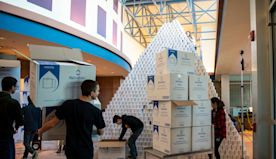 High School Students Spend Holiday Break Building Toilet Paper Pyramid
