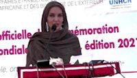 Angelina Jolie visits refugee camp in Burkina Faso