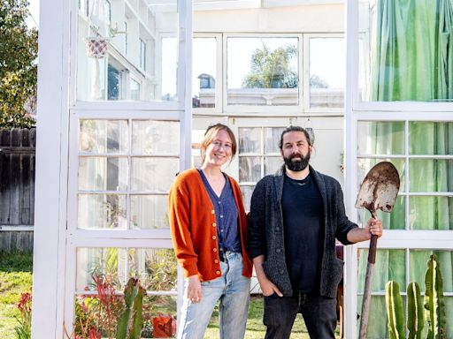 Is this L.A.'s greenest greenhouse? It's made of donated scraps from across L.A.