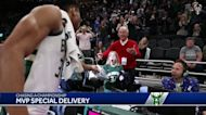 MVP Special Delivery: Lucky fans cherish game-worn shoes from Bucks star Giannis Antetkounmpo