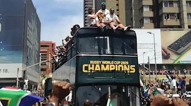 South Africa Celebrates Rugby World Cup Win With Parade in Pretoria