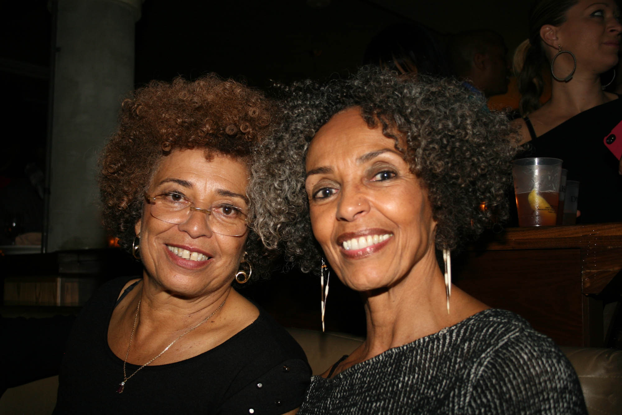 Angela Davis and sister, Fania Davis Jordan | blackfilm.