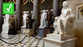 Yes, there are Confederate statues in the US Capitol's National Statuary Hall Collection