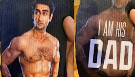 Kumail Nanjiani's Dad Is So Proud He Put His Son's Face on His Socks