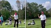 Donald Trump Shades Joe Biden After Piping Drive On Golf Course