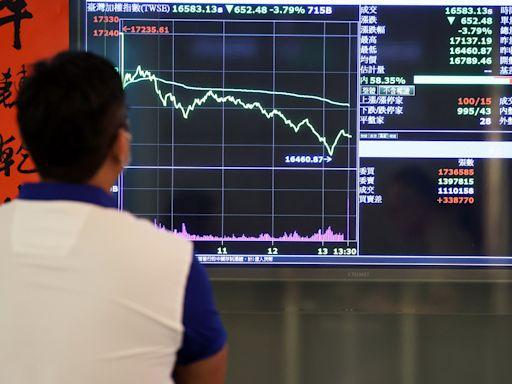 台股重挫 電子五虎市值蒸發7,000億