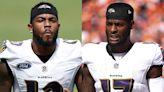 Ravens activate rookie WR Rashod Bateman from injured reserve, elevate RB Le'Veon Bell