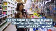 H-E-B and Target Offering Teachers 15% Off On School Supplies