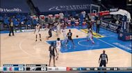 Moses Brown with a buzzer beater vs the LA Clippers