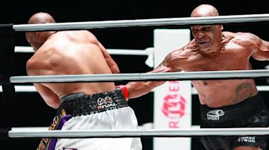 Mike Tyson shows flashes of the headhunter in unofficial draw with Roy Jones Jr.