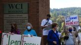 Protesters decry Rep. Schrader's vote against drug-pricing plan