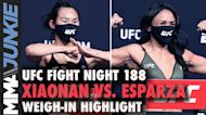 UFC Fight Night 188: Yan Xianon, Carla Esparza make their bout official after succesfully weighing i