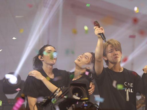 MIRROR演唱會|姜濤激動落淚與AK相擁高呼:香港樂壇加油