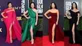 Catherine Zeta Jones' best thigh-high split dresses