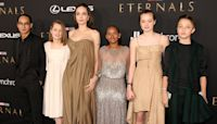 Angelina Jolie's Children Upcycle Her Fashion For 'Eternals' Premiere