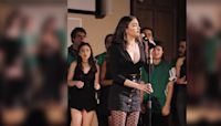 Girl stands in middle of a capella choir - then brings house down with powerful 'River' cover