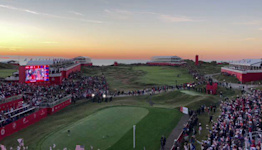 """Crowd Chants """"USA"""" Ahead of Ryder Cup Tee Off at Whistling Straits"""