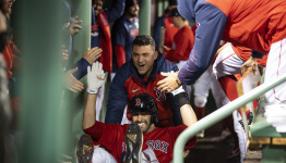 He can't play in October. But the Red Sox wouldn't be here without him