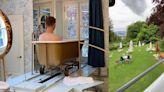 This golden bathtub on rails is bonkers   Boing Boing
