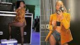 Chrissy Teigen wears denim underwear to John Legend's concert