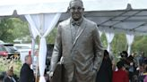Thurgood Marshall statue honors Supreme Court justice's work desegregating New York school