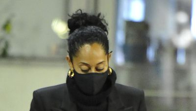 Tracee Ellis Ross Makes the Doctor's Office Her Runway in Paper Gown and 'Ugly' Sandals
