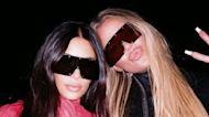 Kim and Khloé Kardashian Wore Matching Butt-Zipper Leather Catsuits
