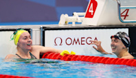 Katie Ledecky Takes Silver in Women's 400m Freestyle for First Tokyo Olympics Medal