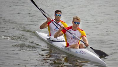 Marcus Walz y Rodrigo Germade en la final del K2 500