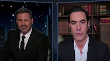 Jimmy Kimmel Catches Sacha Baron Cohen Selling COVID Vaccines to Celebs (Video)
