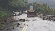 宜蘭規模6.5地震 蘇花落石砸中汽車 幸無人傷
