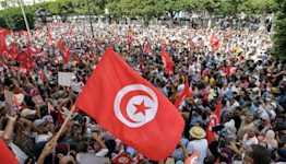 Tunisians in largest rally against president's 'coup'