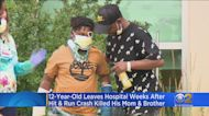 12-Year-OId Leaves Hospital Weeks After Hit-And-Run Crash Killed His Mom And Brother