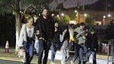 J.Lo & Ben Affleck Take Kids Max & Emme, 13, & Seraphina, 12, & Violet, 15, To Outdoor Movie