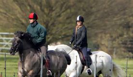Prince Edward joined by daughter Lady Louise Windsor for horse riding - see photos