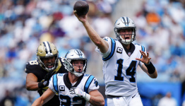 Darnold throws 2 TDs, Panthers D dominates Saints 26-7