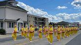 新州哥倫布日遊行 腰鼓隊贏得一路喝彩